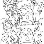pasqua uova e conigli da colorare